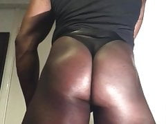 Black Lubed Muscle Rump Guts Stimulation