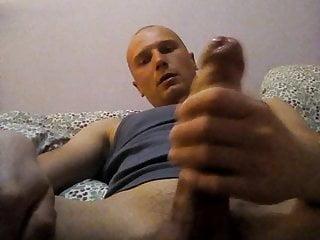 Hot masturbation.  Big and hard dick