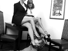 Two Mistresses Dominate on Their Slave Compil.