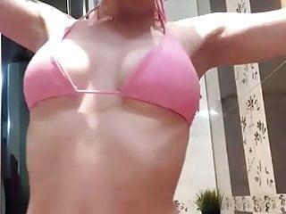 Pink Bikini tryout at home – bathroom