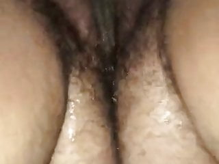 Bbw hairy fat mom wife gushes all over...