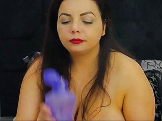 Busty syrian vaping while topless on cam...