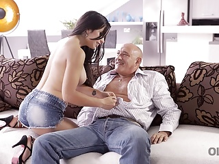 OLD4K ends young old fucking Hot scene and
