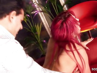 Crazy bombshell Porcha Sins with pink hair gets a rough, hard fuck