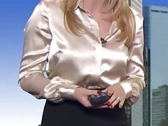 Satin weather girl Evelyn