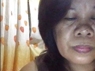 Filipino granny showing her delites on cam...
