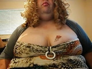 Lola shakes her huge tits on webcam...