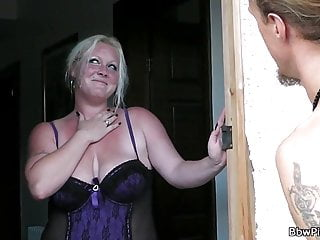 A man fucks chubby blonde...