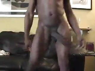 Black guy playing his...