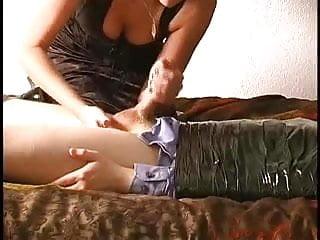Mummified Bondage Handjob