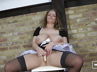 Big Tits Brit Charley Wanks Herself Off to Our Delight Part3