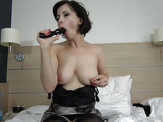dildo fuck Sexy mother and suck black