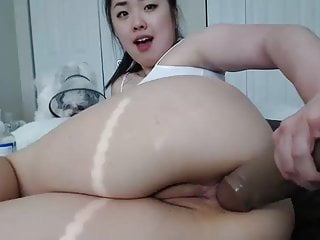 Huge dildo is fucking young asian 039 s...