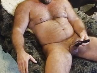 Superb hairy muscle bear wank toyVibrator