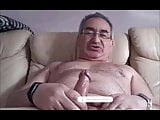 spanish grandpa wanking his big cock