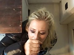 german blonde forced to blow big cock