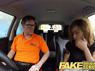 Fake Driving School Ebony Londoner Pays for lessons with sex