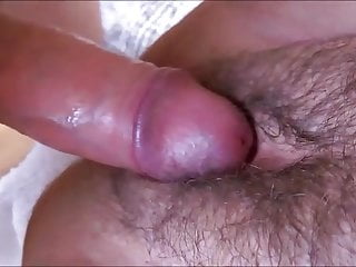 Hairy and seductive pussy lips drenched with sperm...