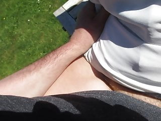 Fucked on the garden table after she cars...