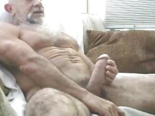 Muscular grandpa cum...