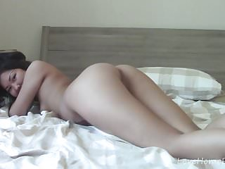 Naughty asian spreads her legs and masturbates passionately...