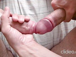 two big uncut cocks frotting each other till explosion