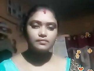 Tamil Desi BBW Blue Silky Blouse Live