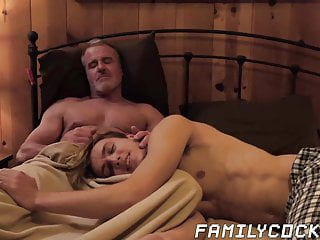 Raw cock sucking action in forbidden stepfamily shag...