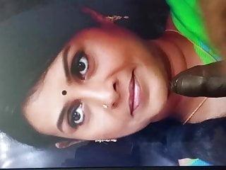 Saranya Ponvannan Spit & Cum Tribute..