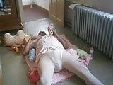 Girl gets dildo up the ass