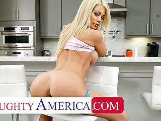 Blonde Blowjob Big Tits video: Naughty America - Husband doesnt give wife a cock she NEEDS