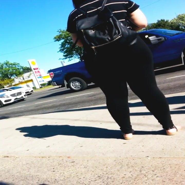 big booty spanish girl  in black tights pt 2