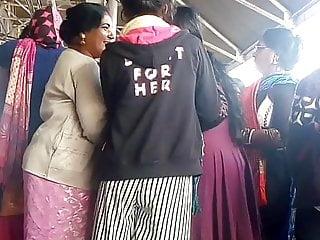 Bitch Touching Bitch's Anus