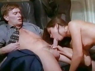 Passengers fucking while stewardess watching
