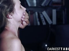 Naughty blonde Mona Blue gets woken up for rough taboo sex