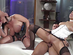 Rocco's friends having nasty orgy - Kira Queen and Anissa