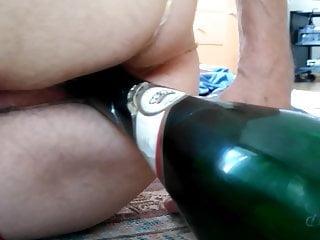 Bottle as sex toy in my ass 1
