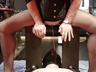 pissing  Piss mistress  peeing  slave drinking