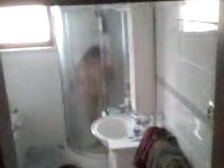 Chinese Mature naked granny in shower