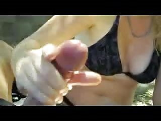 My GF Masturbating for me and me cumin on her sweet pussy