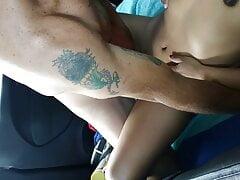 Bareback Latina's wet pussy