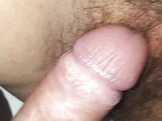 Play with her hairy pussy