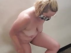 Chubby wife dared to strip naked and walk in public
