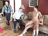 Threesome For Swinger Wife's Birthday Surprise