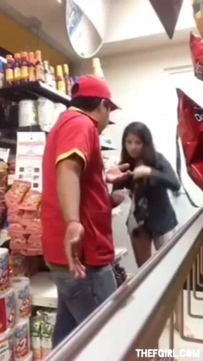 Horny Girl Caught Masturbating In Superstore