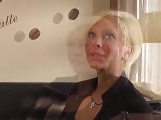 Sexy blonde milf first porn...