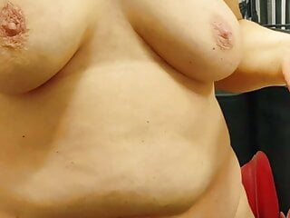 Fat redhead wife after shower