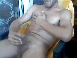 handsome guy jerks off on cam