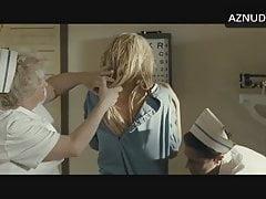 A. Ward in 2010 movie in white satin granny panty