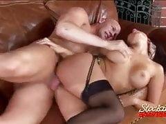 Stocking Clad Eva Angelina Fucked